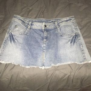 RUBBISH DENIM SKIRT